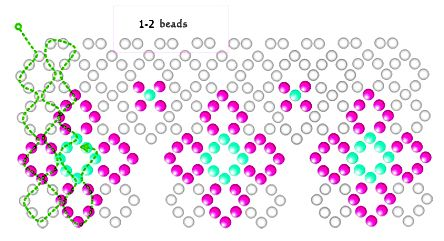 Free pattern for necklace Nemezida
