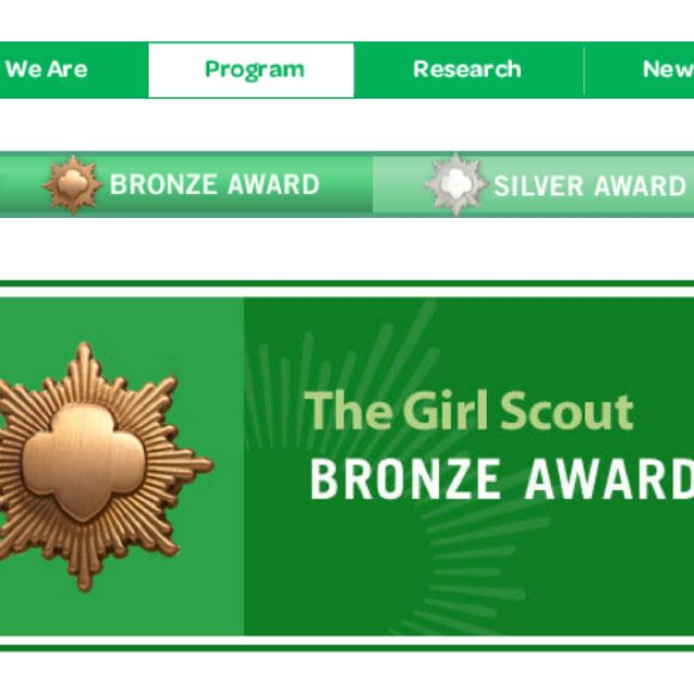Leading your girls to the highest awards? Bronze, Silver, or Gold, you'll find requirements for these awards online here.