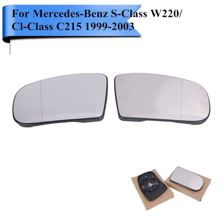 2x Car Heated Rearview Mirror Glass For Mercedes Benz S Class W220 / Cl Class C215 S65 S55 S430 S500 S600 CL500 CL55 CL600 #W112 #Affiliate