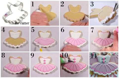 This blog post explains step-by-step how to Decorate a Ballerina Tutu Cookie, plus there's a VIDEO!!