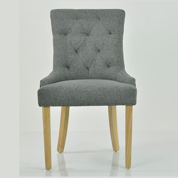 WENTWORTH BUTTON BACK DINING CHAIR GREY FABRIC The Wentworth Dining Chair  Is Fully Upholstered And Features