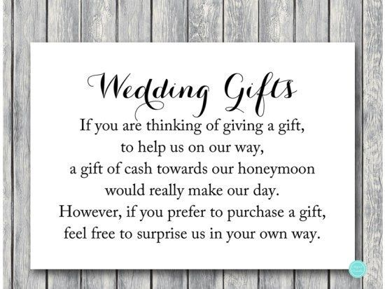 Wedding Gift Card Sayings: TG00 Honeymoon-fund-3-5x5 Chic Wedding Gift Cash