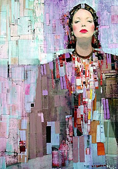 The Seven Heavens, Richard Burlet / carré / géométrique / portrait / personnage / dédain / couleur / composition