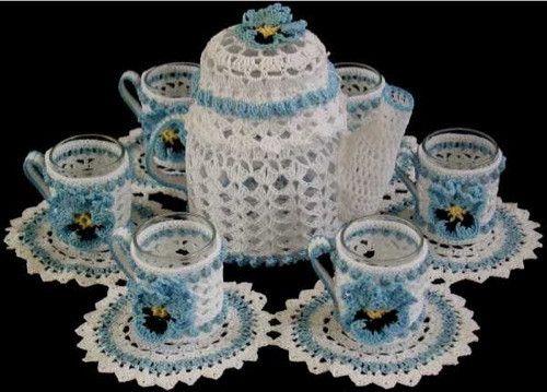 Teatime Candle Doily Set Crochet Pattern