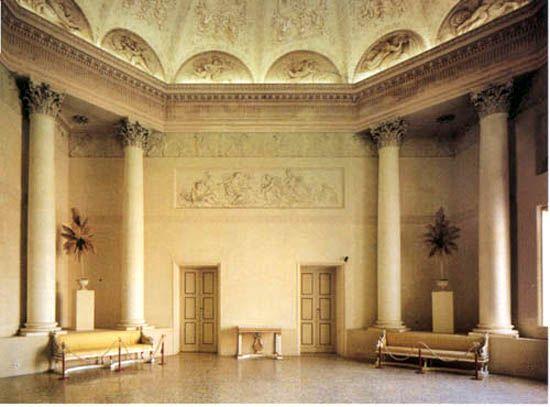 """La vasta sala ottagonale detta """"Tempio di Apollo""""  http://palazzomilzetti.jimdo.com/il-palazzo-the-palace-der-palast-le-palais/piano-nobile/"""