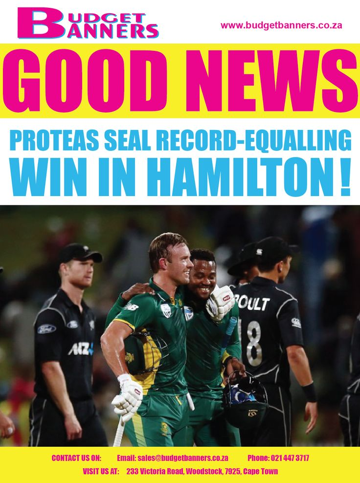 Well done to The Proteas, their victory helped Team South Africa equal their record of 12 wins a row. The result at Seddon Park was sealed by youngster Andile Phehlukwayo after he plundered two sixes and two fours in his 29 not out off 23 balls to take the Proteas past their 208 victory-target with a delivery to spare in their 34-over-a-side affair. #GoodNewsMonday