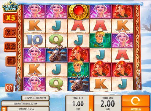 """Слот автомат Crystal Queen онлайн за истински пари. Печеливши и вълнуваща слот игра Crystal Queen е създаден въз основа на приказката """"Снежната кралица"""" от Quickspins. Го играете за истински пари с играчите на сключване оценявам високи темпове, приятни фактори и много други начин"""