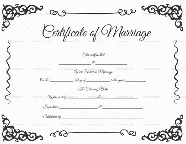 68 best Marriage Certificate Templates images on Pinterest - sample baptism certificate template