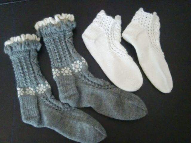 Sokker strikket i april 2016. Gaver.