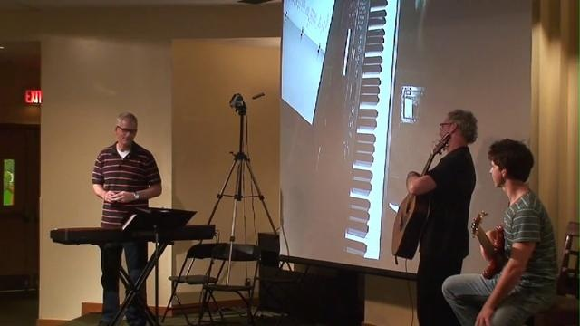 Piano in Contemporary Worship, Part 2 by Sovereign Grace Ministries. Bob Kauflin demonstrates piano techniques in a corporate worship setting that includes guitar and bass. Recorded at the WorshipGod 2011 conference in Gaithersburg, MD. www.SovereignGraceMinistries.org.  Fantastic reminder of how to play with a team.