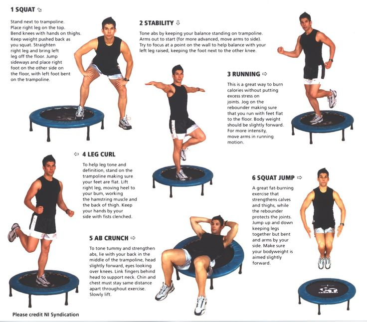 PT Bouncer exercises (rebounder)- Here are some great ways to use your Fitness Trampoline