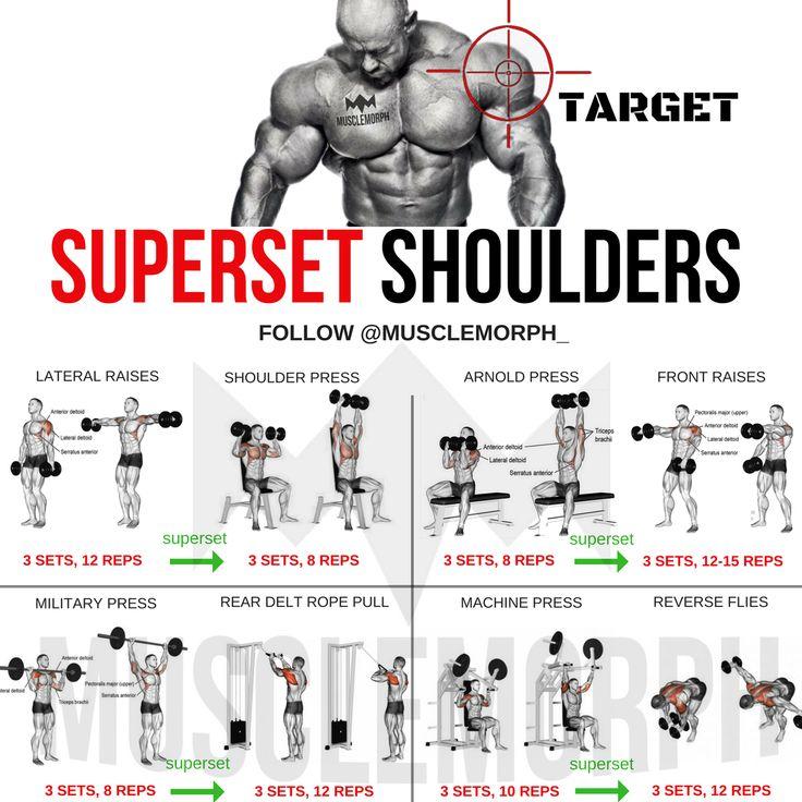 SUPERSET SHOULDER SHOULDER WORKOUT EXERCISE GYM MUSCLEMORPH MUSCLEMORPH SUPPS BODYBUILDING BOULDER SHOULDERS