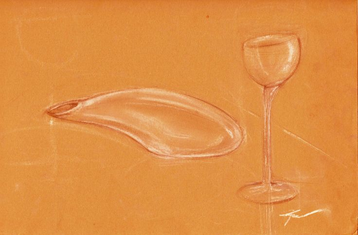 wine glass and carafa redesign, study of glass