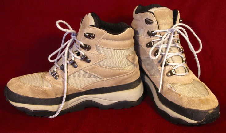 LL Bean Winter Boots Sport Hiking Gray Pimaloft Insulated Waterproof Leather 8 9 #LLBean #HikingTrail