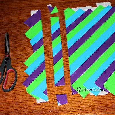 duck tape craft projects | Striped Duct Tape Bracelet Craft