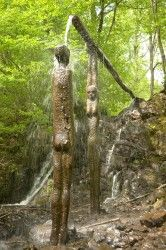 Assessing the cultural & spiritual significance of forests. Forest Research. Artwork is Bean An T-Visce (Woman of the Water). Sculpture by Alannah Robins 1995. Grizedale forest