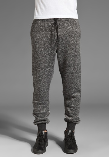 T by Alexander Wang Sweater Knit Sweatpants in Charcoal