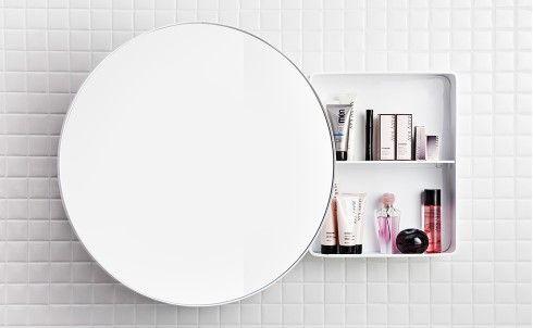 Jenny Svedberg spegel rund förvaring badrum