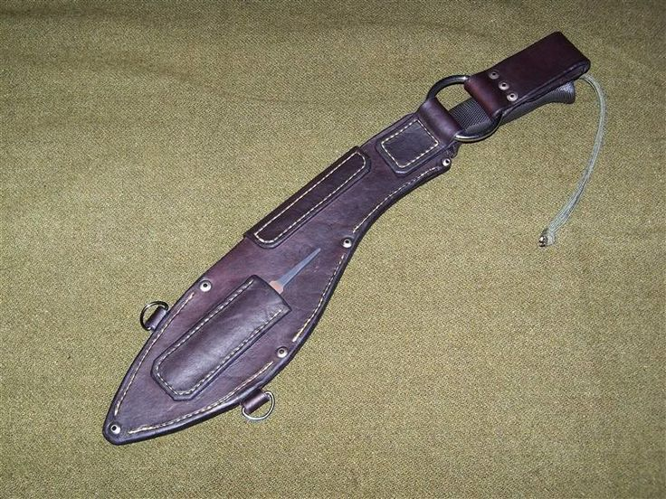 Leather Sheath For The Cs Kukri Knives And Scabbards