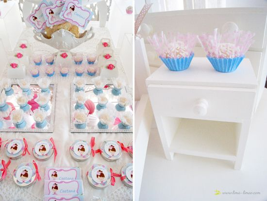 lots of cute details for this ballerina room themed party in light pink and blue