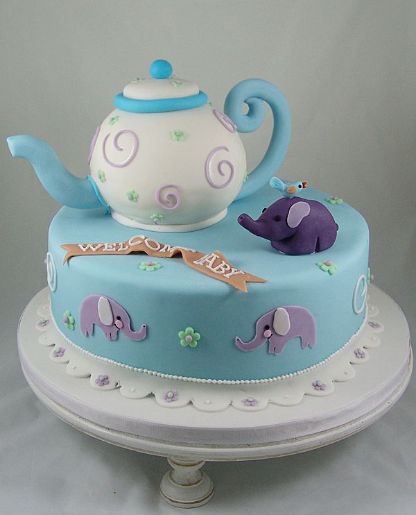 Baby Shower Fondant Cakes Pictures
