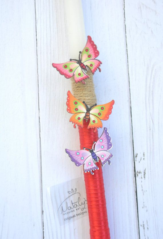 Easter candle Greek Easter lambada Greek Pas ha candle Anastasi lambada by NatalysWeddingArt