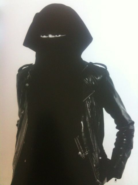 burka with leather jacket #awesome