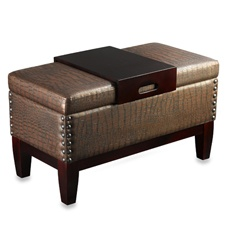 Foot rest, extra seating, and coffee table!  Plus it hides mami's purses.  I have a very similar one I bought at Costco