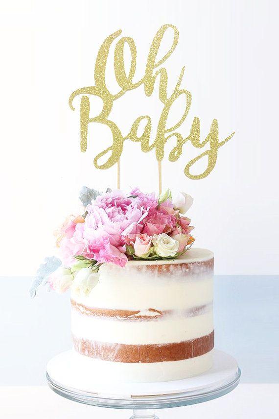 Oh Baby Cake Topper Baby Shower Cake Topper Baby By Perlaospot