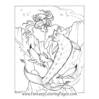fantasy coloring pages the best coloring pages mermaids angels fairies and so - Coloring Pages Beautiful Angels