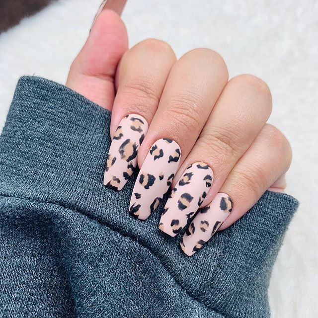 Pin On Animal Print Nails