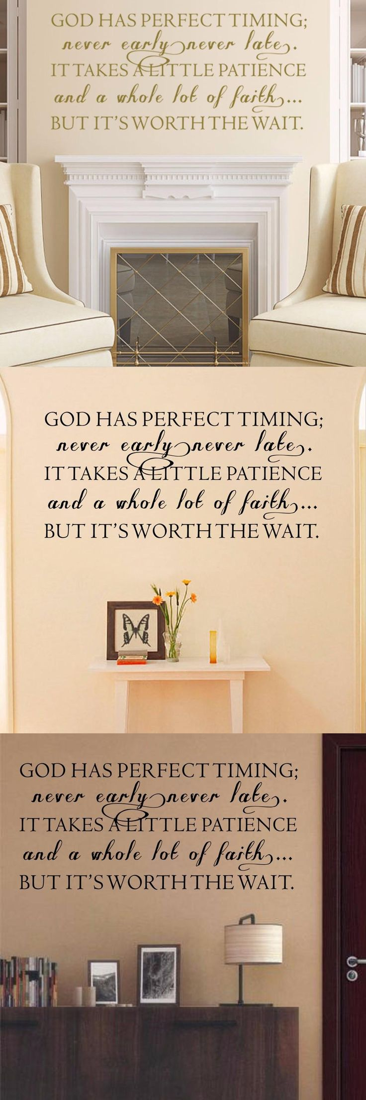 Psalms wall decals christian wall decals ine walls -  Visit To Buy Christian Wall Decal God Has Perfect Timing Phrase Decal