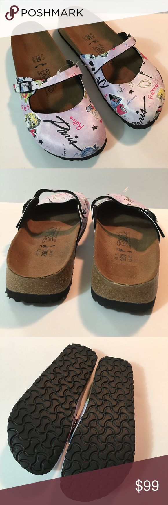 "Birki's by Birkenstock Retro/Paris Clog 9 Pristine Birki's by Birkenstock Retro/Paris Clog size 9. Pristine condition. Toe to heel length 10"". Made in Germany. Birkenstock Shoes Mules & Clogs"