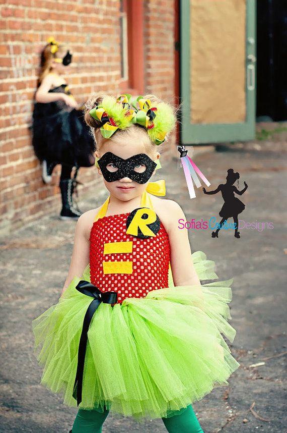 READY  to ship size 4-6 Robin superhero costume