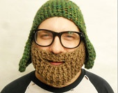 Brown Beard, Dirty Blonde, Crochet with Strap, Made To Order