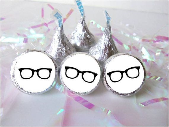 Hipster Eyeglasses Geek Party Decorations by PartyPerksPrints, $4.99