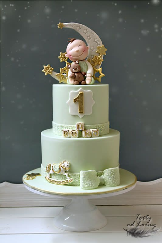 Little Boy and Stars - http://cakesdecor.com/cakes/300198-little-boy-and-stars