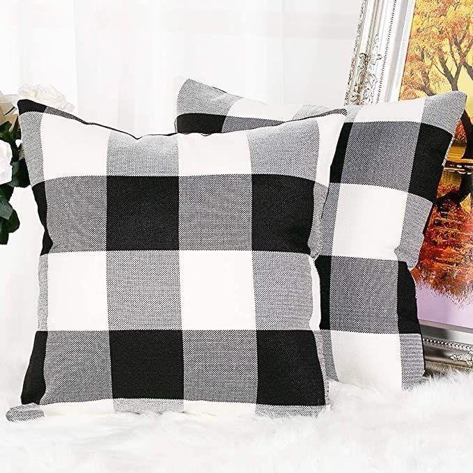 Kerothen Plaid Throw Pillow Cover 20×20