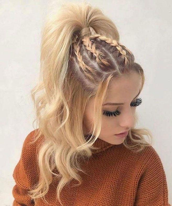 22 Cute Braid Hairstyles Cute Braided Ponytail Half Up Hairstyle Hair Styles Braids For Long Hair Long Hair Tutorial