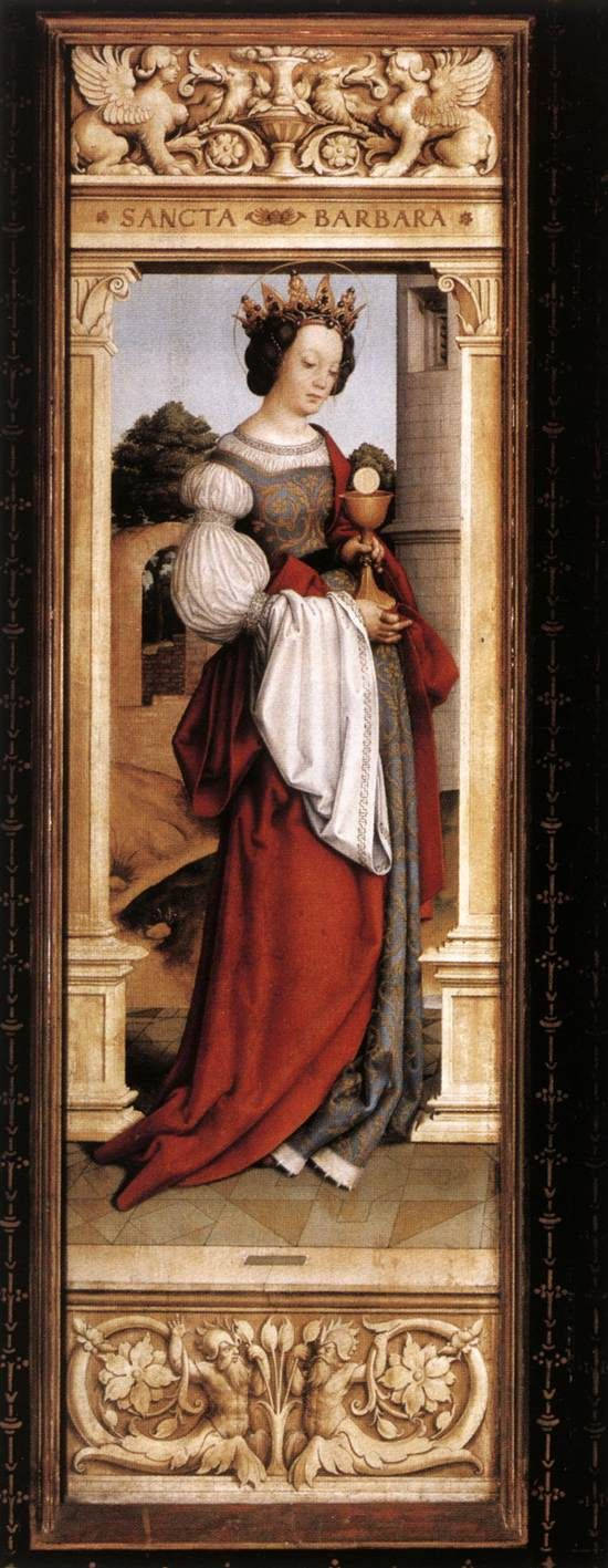 St. Barbara  --  1516  --  Hans Holbein the Younger  --  Germany  --  Oil on panel  --  Alte Pinakothek, Munich