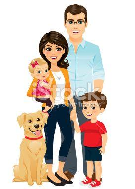 Happy Family Royalty Free Stock Vector Art Illustration