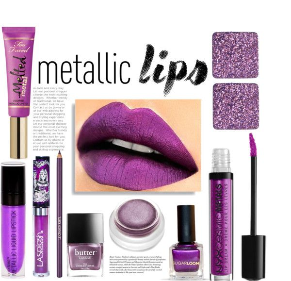Purple Metallic lips
