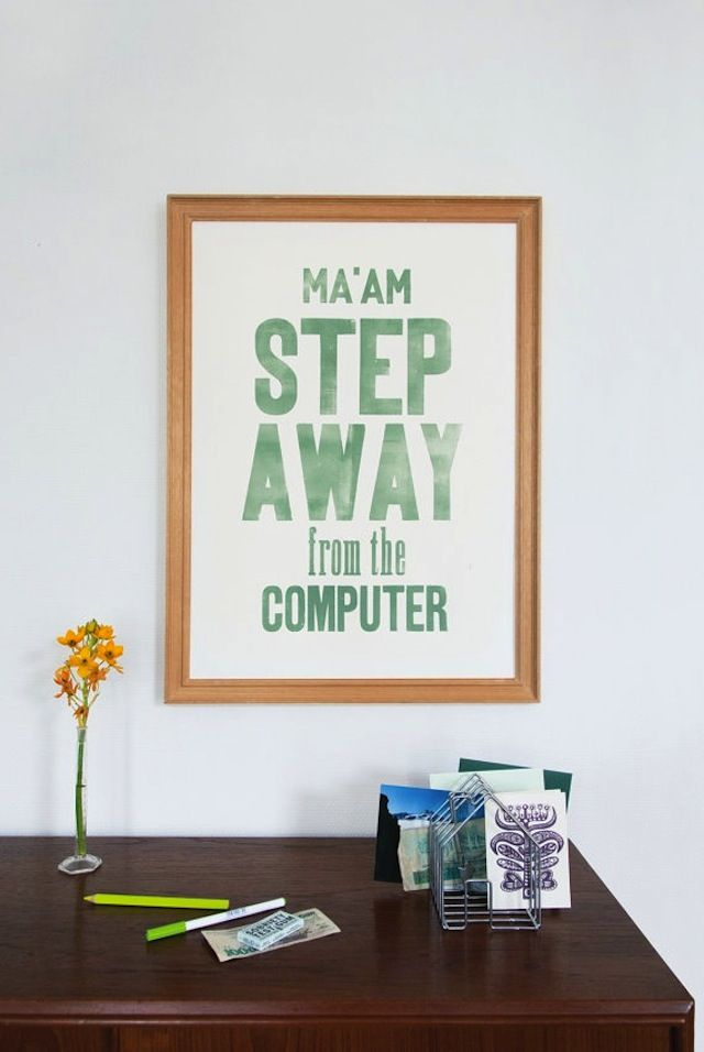 Sterling StyleComputers, The Office, Home Offices Decor, Home Office Decor, Funny, Desks, Art Posters, Blog Happen, Fabulous Blog