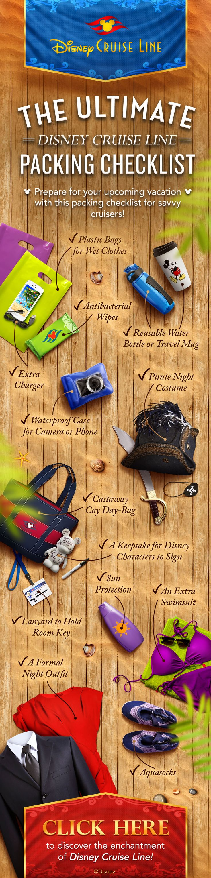 Here's your ultimate Disney Cruise Line packing checklist!