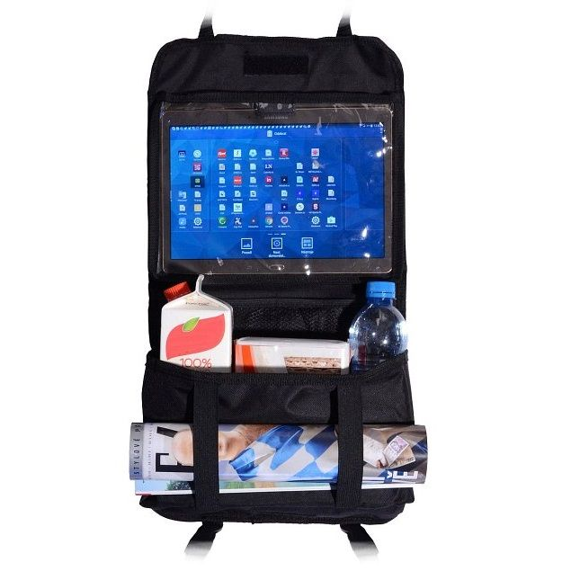 Organizér na přední sedadlo s kapsou na tablet - Compass