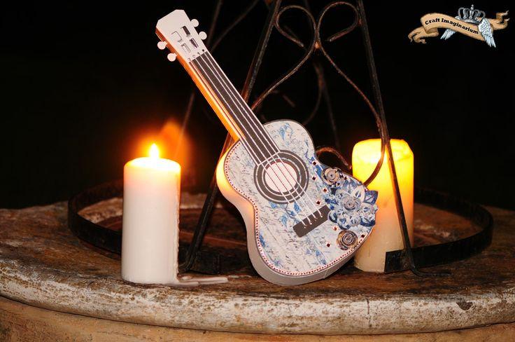 Guitar blue white 6