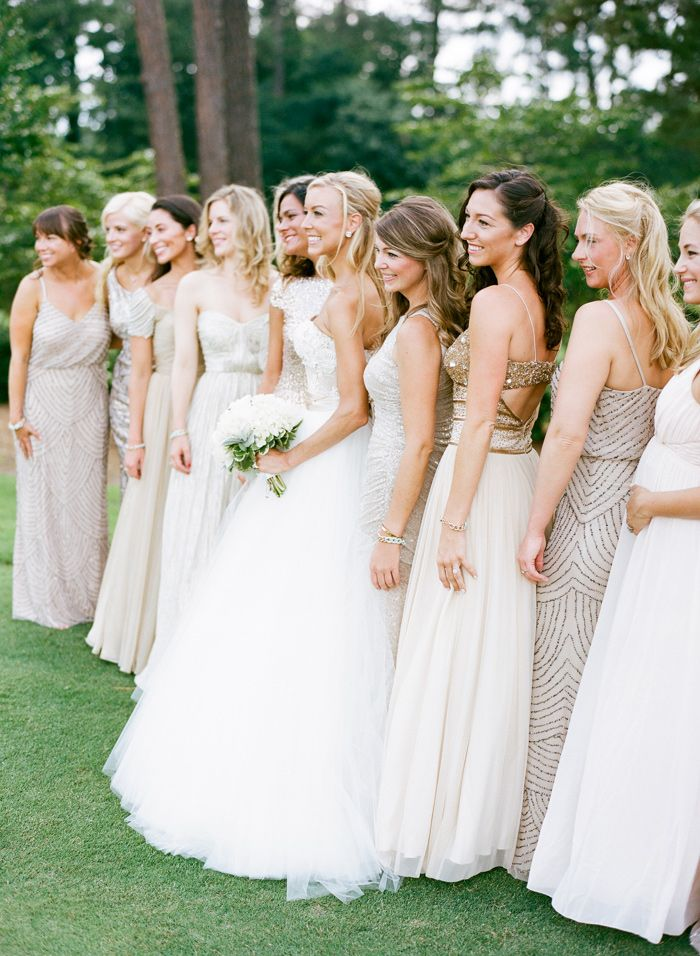 chrome hearts vest Glamorous mismatched bridesmaid dresses   Summer Solstice Chapel Hill Country Club Wedding