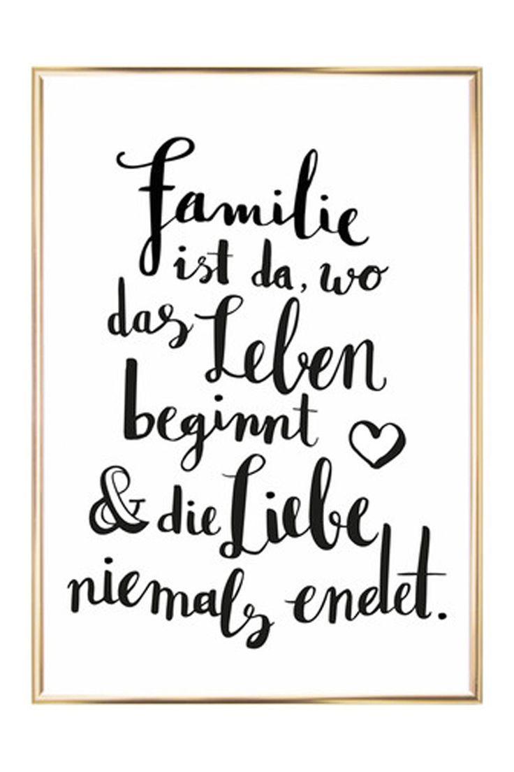 Gerahmter Digitaldruck Familie Digitaldruck Familie