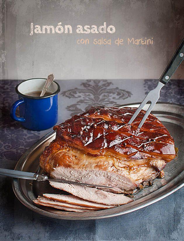 Baked ham with Martini sauce, Jamón asado con salsa de Martini | El Invitado de Invierno