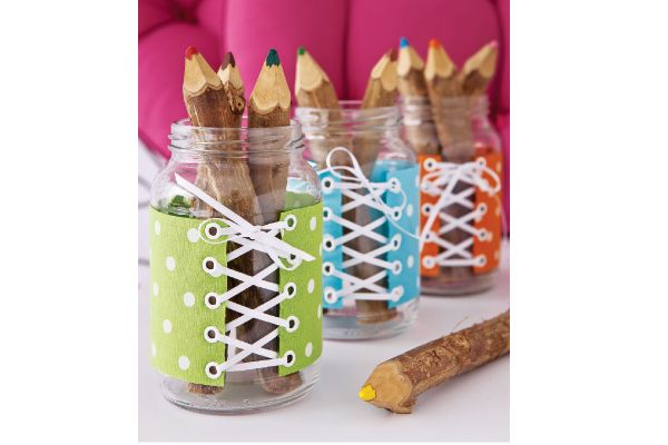 Aparador Zara Home ~ Como reutilizar potes de vidro Portal de Artesanato  Potes decorados Blog Pitacos e